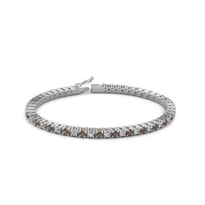 Tennis bracelet Petra 585 white gold smokey quartz 3 mm