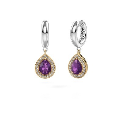 Picture of Drop earrings Barbar 1 585 gold amethyst 8x6 mm
