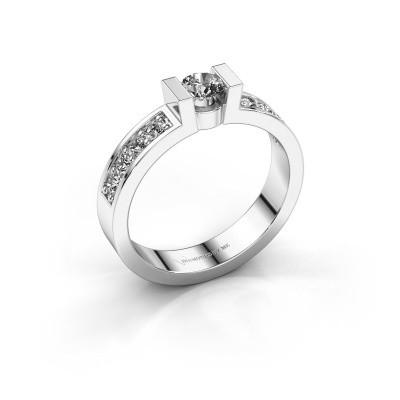 Verlovingsring Lieve 2 375 witgoud diamant 0.25 crt
