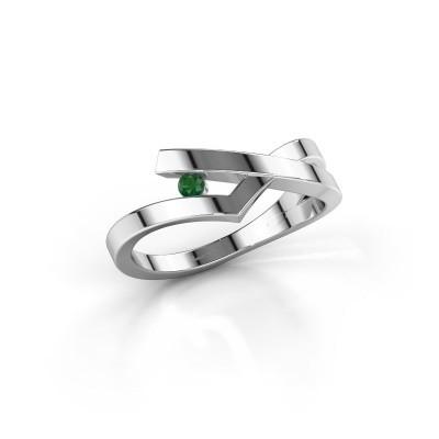 Ring Pamella 925 silver emerald 2.2 mm