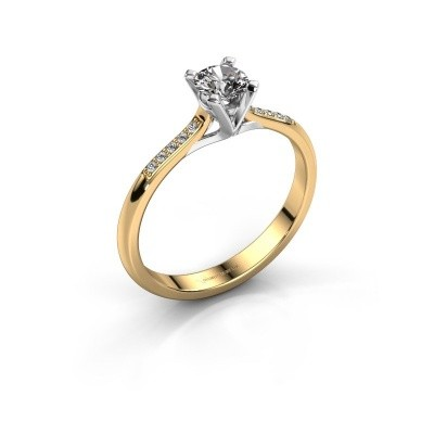 Picture of Engagement ring Isa 2 375 gold zirconia 4.2 mm