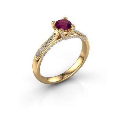 Verlovingsring Mia 3 375 goud rhodoliet 5 mm