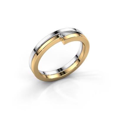 Foto van Ring Nikia 585 witgoud diamant 0.03 crt