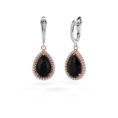 Pendants d'oreilles Tilly per 4 585 or rose diamant noir 3.60 crt