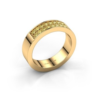 Stackable ring Catharina 5 375 gold yellow sapphire 1.7 mm