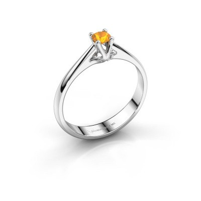 Engagement ring Janna 1 925 silver citrin 3.4 mm