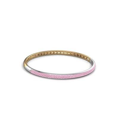 Foto van Slavenarmband Emely 4mm 585 goud roze saffier 1.1 mm