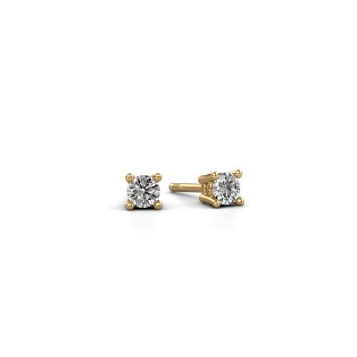 Photo de Clous d'oreilles Jannette 585 or jaune diamant 0.20 crt
