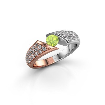Picture of Engagement ring Hojalien 3 585 rose gold peridot 4.2 mm