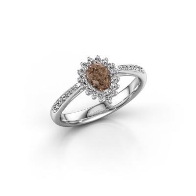 Foto van Verlovingsring Chere 2 585 witgoud bruine diamant 0.45 crt