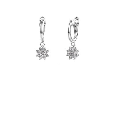 Drop earrings Camille 1 950 platinum zirconia 3 mm