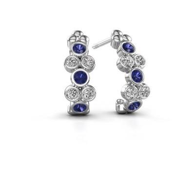 Earrings Kayleigh 925 silver sapphire 2.4 mm