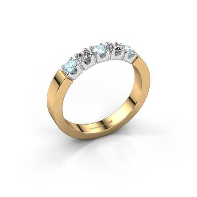Engagement ring Dana 5 585 gold aquamarine 3 mm