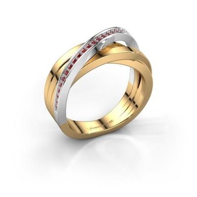 Foto van Ring Britt 585 goud robijn 1 mm