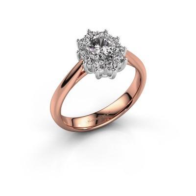 Foto van Verlovingsring Leesa 1 585 rosé goud diamant 0.50 crt