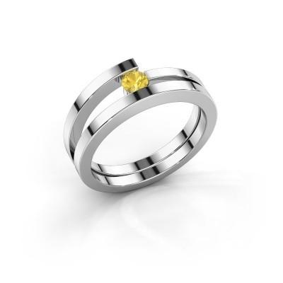 Ring Sandy 925 zilver gele saffier 3.4 mm