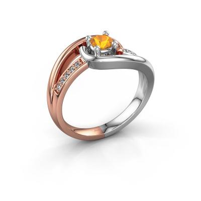 Ring Aylin 585 rose gold citrin 4 mm