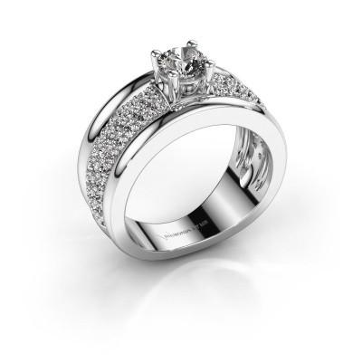 Foto van Ring Alicia 925 zilver zirkonia 5 mm