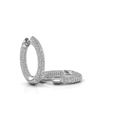 Foto van Creolen Hope 13mm 950 platina lab-grown diamant 2.368 crt