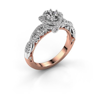 Verlovingsring Lysanne 585 rosé goud diamant 0.85 crt