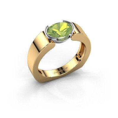Ring Tonya 585 goud peridoot 8x6 mm