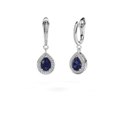 Picture of Drop earrings Ginger 2 585 white gold sapphire 7x5 mm