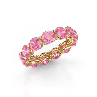 Foto van Ring Kirsten 5.0 375 goud roze saffier 5 mm
