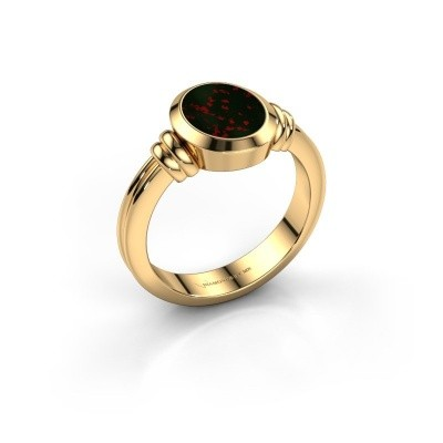 Pinkring Jake 1 585 goud heliotroop 10x8 mm