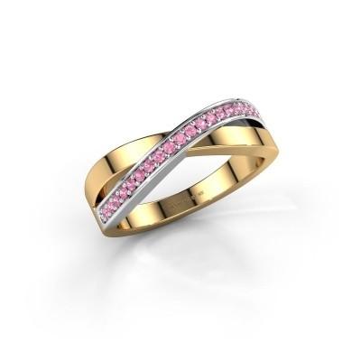 Foto van Ring Kaley 585 goud roze saffier 1.2 mm