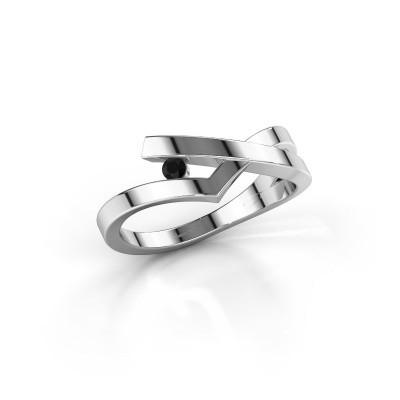 Ring Pamella 925 silver black diamond 0.054 crt
