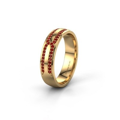 Wedding ring WH2212L25AP 375 gold ruby ±0.20x0.07 in