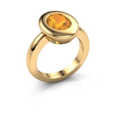Ring Selene 1 585 goud citrien 9x7 mm