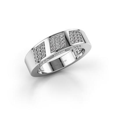 Foto van Ring Jessika 585 witgoud diamant 0.30 crt