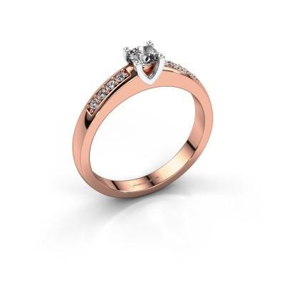 Verlovingsring Isabella 2 585 rosé goud diamant 0.42 crt