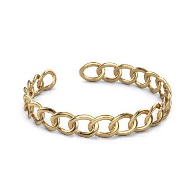 Flacher Link Armband Rose 12mm 585 Gold