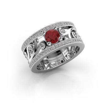 Foto van Ring Sanne 925 zilver robijn 5 mm