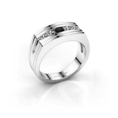 Foto van Heren ring Huub 950 platina zwarte diamant 0.60 crt