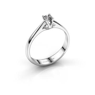 Photo de Bague de fiançailles Janna 1 585 or blanc diamant synthétique 0.15 crt