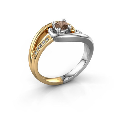 Ring Aylin 585 gold brown diamond 0.325 crt
