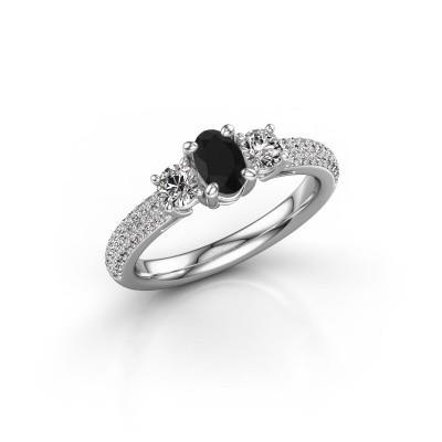 Foto van Verlovingsring Marielle OVL 950 platina zwarte diamant 1.45 crt