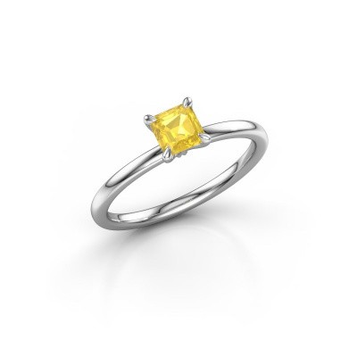 Verlobungsring Crystal ASS 1 950 Platin Gelb Saphir 5 mm