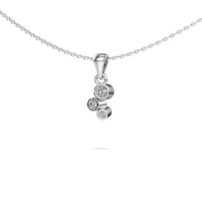 Bild von Anhänger Tessa 585 Weißgold Diamant 0.105 crt