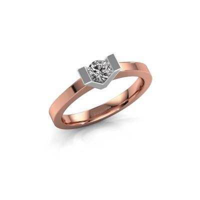 Foto van Aanzoeksring Sherley 1 585 rosé goud diamant 0.25 crt