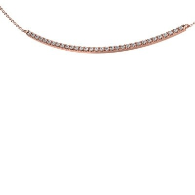 Picture of Bar necklace Simona 375 rose gold lab-grown diamond 0.48 crt