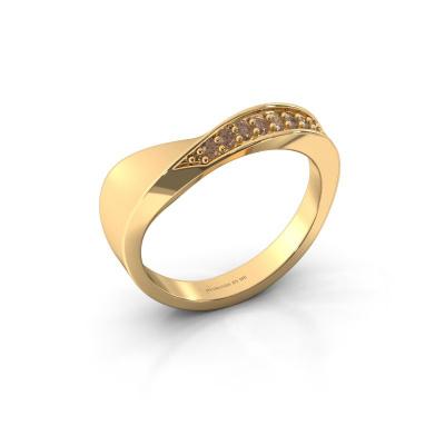 Ring Lynn 585 goud bruine diamant 0.216 crt