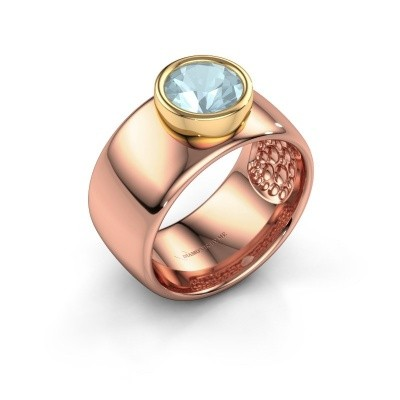 Bague Klarinda 585 or rose aigue-marine 7 mm