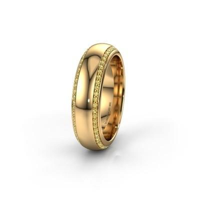 Trouwring WH6132L36C 375 goud gele saffier ±6x2.2 mm
