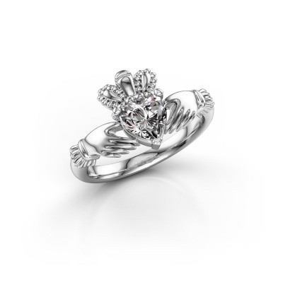Foto van Ring Claddagh 2 925 zilver zirkonia 6 mm