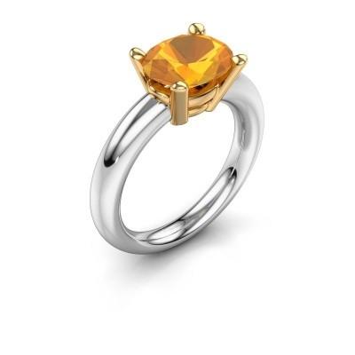 Ring Janiece 585 Weißgold Citrin 10x8 mm