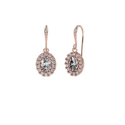 Picture of Drop earrings Jorinda 2 375 rose gold diamond 2.19 crt